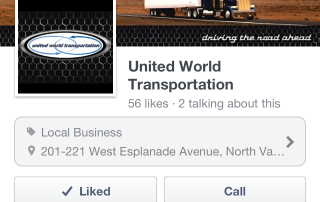 UWT facebook on iphone