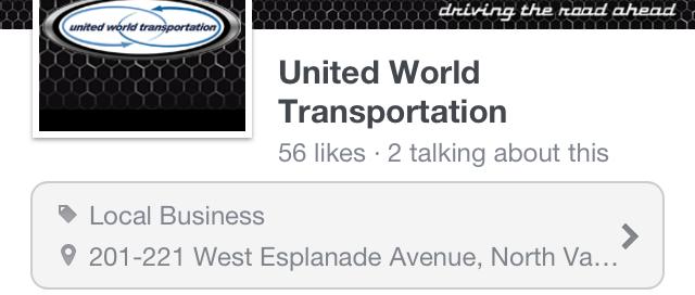 UWT facebook on iphone