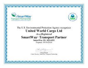 SmartWay Transport UWC 2014